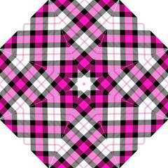 Smart Plaid Hot Pink Folding Umbrellas by ImpressiveMoments