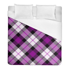 Smart Plaid Purple Duvet Cover Single Side (twin Size) by ImpressiveMoments