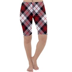 Smart Plaid Red Cropped Leggings by ImpressiveMoments