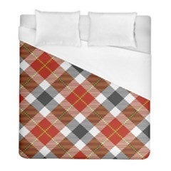 Smart Plaid Warm Colors Duvet Cover Single Side (twin Size) by ImpressiveMoments