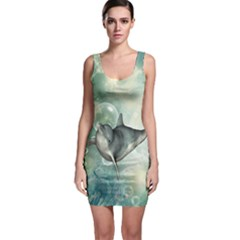 Funny Dswimming Dolphin Bodycon Dresses