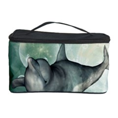 Funny Dswimming Dolphin Cosmetic Storage Cases