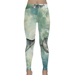 Funny Dswimming Dolphin Yoga Leggings