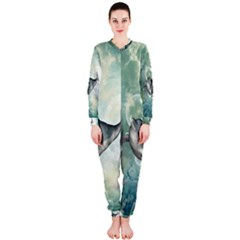 Funny Dswimming Dolphin Onepiece Jumpsuit (ladies)