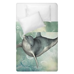 Funny Dswimming Dolphin Duvet Cover (single Size)