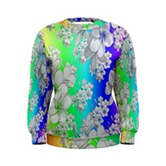 Delicate Floral Pattern,rainbow Women s Sweatshirts by MoreColorsinLife