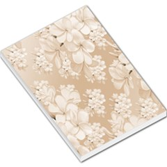 Delicate Floral Pattern,softly Large Memo Pads by MoreColorsinLife