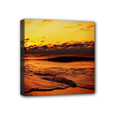 Stunning Sunset On The Beach 2 Mini Canvas 4  X 4  by MoreColorsinLife