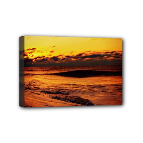 Stunning Sunset On The Beach 2 Mini Canvas 6  X 4  by MoreColorsinLife