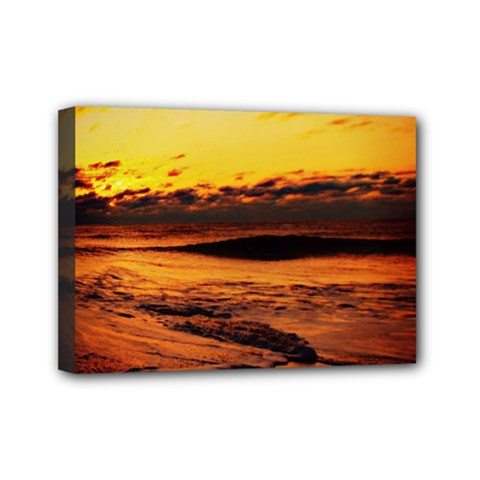 Stunning Sunset On The Beach 2 Mini Canvas 7  X 5  by MoreColorsinLife