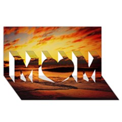 Stunning Sunset On The Beach 2 Mom 3d Greeting Card (8x4)