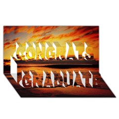 Stunning Sunset On The Beach 2 Congrats Graduate 3d Greeting Card (8x4)  by MoreColorsinLife