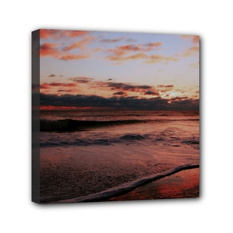 Stunning Sunset On The Beach 3 Mini Canvas 6  X 6  by MoreColorsinLife
