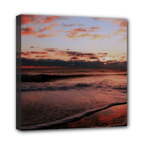 Stunning Sunset On The Beach 3 Mini Canvas 8  X 8  by MoreColorsinLife