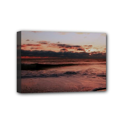 Stunning Sunset On The Beach 3 Mini Canvas 6  X 4  by MoreColorsinLife