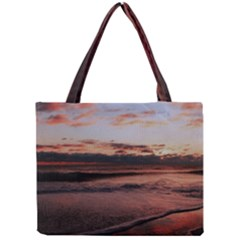 Stunning Sunset On The Beach 3 Tiny Tote Bags by MoreColorsinLife