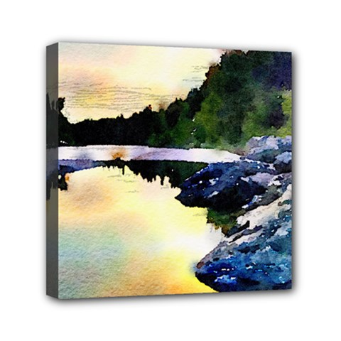 Stunning Nature Evening Mini Canvas 6  X 6  by MoreColorsinLife