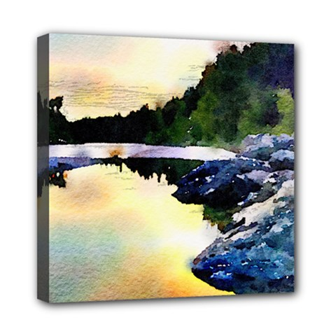 Stunning Nature Evening Mini Canvas 8  X 8  by MoreColorsinLife