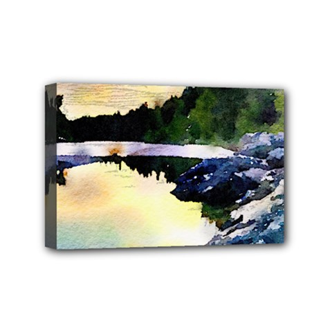 Stunning Nature Evening Mini Canvas 6  X 4  by MoreColorsinLife