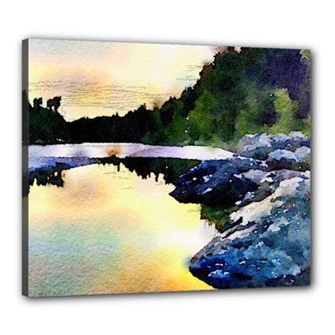 Stunning Nature Evening Canvas 24  X 20  by MoreColorsinLife