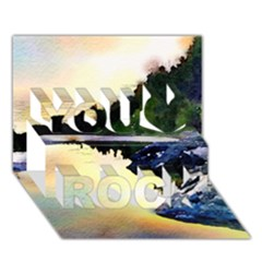 Stunning Nature Evening You Rock 3d Greeting Card (7x5)  by MoreColorsinLife
