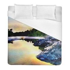 Stunning Nature Evening Duvet Cover Single Side (twin Size) by MoreColorsinLife