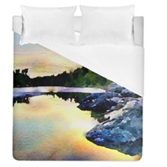 Stunning Nature Evening Duvet Cover Single Side (full/queen Size) by MoreColorsinLife