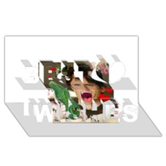 1443925651325 Best Wish 3d Greeting Card (8x4)