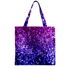 Midnight Glitter Grocery Tote Bags by KirstenStar