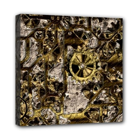 Metal Steampunk  Mini Canvas 8  X 8  by MoreColorsinLife