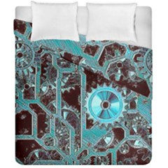 Steampunk Gears Turquoise Duvet Cover (double Size) by MoreColorsinLife