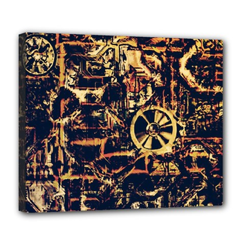 Steampunk 4 Deluxe Canvas 24  X 20   by MoreColorsinLife