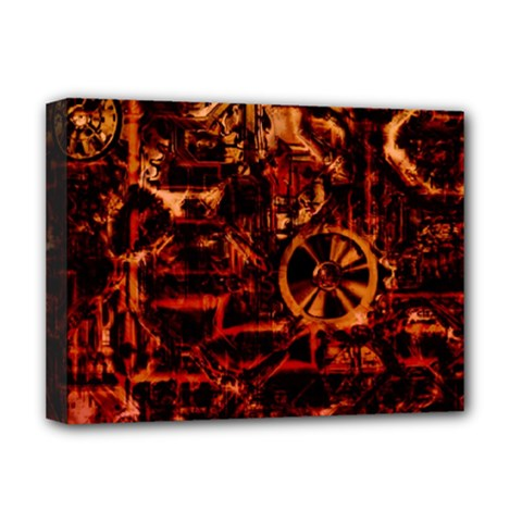 Steampunk 4 Terra Deluxe Canvas 16  X 12   by MoreColorsinLife
