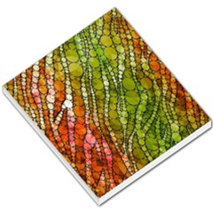 Orange Green Zebra Bling Pattern  Small Memo Pads by OCDesignss