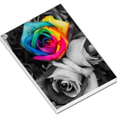 Blach,white Splash Roses Large Memo Pads by MoreColorsinLife