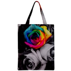 Blach,white Splash Roses Classic Tote Bags