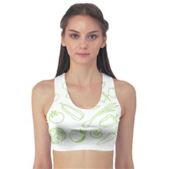 Green Vegetables Sports Bra by Famous