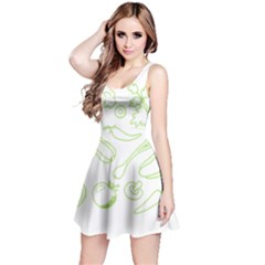Green Vegetables Reversible Sleeveless Dresses