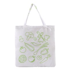 Green Vegetables Grocery Tote Bags by Famous
