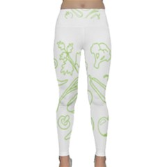 Green Vegetables Yoga Leggings by Famous