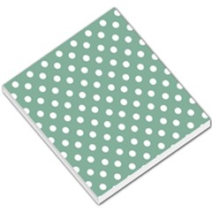 Mint Green Polka Dots Small Memo Pads by creativemom
