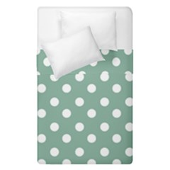 Mint Green Polka Dots Duvet Cover (single Size) by creativemom