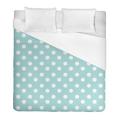 Blue And White Polka Dots Duvet Cover Single Side (twin Size) by creativemom
