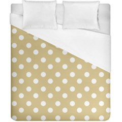 Mint Polka And White Polka Dots Duvet Cover Single Side (double Size) by creativemom