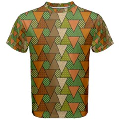 Geo Fun 7 Warm Autumn  Men s Cotton Tees