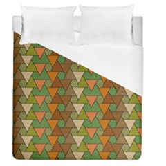 Geo Fun 7 Warm Autumn  Duvet Cover Single Side (full/queen Size) by MoreColorsinLife