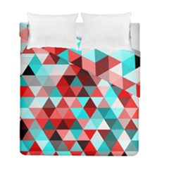 Geo Fun 07 Red Duvet Cover (twin Size) by MoreColorsinLife
