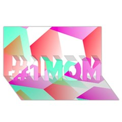 Geometric 03 Pink #1 Mom 3d Greeting Cards (8x4)