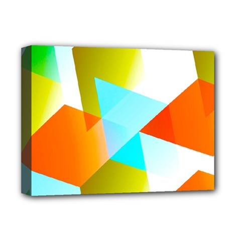 Geometric 03 Orange Deluxe Canvas 16  X 12   by MoreColorsinLife