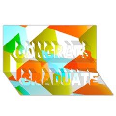 Geometric 03 Orange Congrats Graduate 3d Greeting Card (8x4)